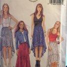 Butterick 5892 Sewing Pattern Elastic waist skirts high low hem SIZE…L 16/18 XL 20/22 XXL 24/26.