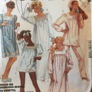 McCalls 2193 Long or short gathered pullover nightgowns or tops Size 8 10 12