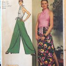 Misses Jiffy Knit Halter Top Pantskirt Simplicity Sewing Pattern 5305 Size 12
