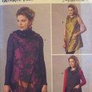 Butterick B6064 KATHERINE TILTON  Misses' Loose-Fitting Vest w/Draped Neckline Xsm - Med