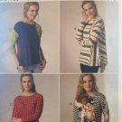 Misses' Shirt Asymmetrical-Overlay Butterick B218 Loose-fitting Tops sewing pattern Sizes 8 -16