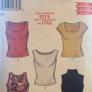 New Look 6068 Five variations Misses Tops Sewing Pattern sizes 6-16