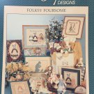 Alma Lynne Folksy Foursome Bunny Designs Cross Stitch chart pattern alx-63