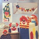 Annie's Attic Plastic Canvas Pattern Leaflet Under the Big Top Baby Set 87B42