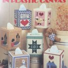 Country Tissue Boxes in Plastic Canvas Pattern Leisure Arts 411