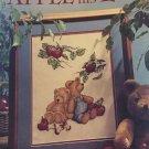 Vintage Apple of His Eye Teddy Bears Under an Apple Tree Cross Stitch Pattern Leisure Arts 2319