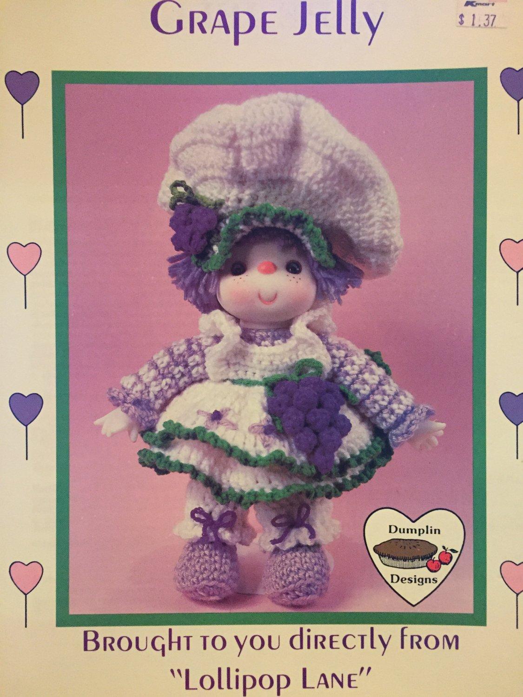 Grape Jelly Doll from Dumplin Designs Lollipop Lane Crochet Pattern CDC403