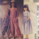 90s LAURA ASHLEY Girls Jumpsuit & Sundress Pattern McCall's 4802 Sizes 10 12 14