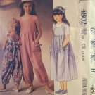 90s LAURA ASHLEY Girls Jumpsuit & Sundress Pattern McCall's 4802 Sizes 3 4 5