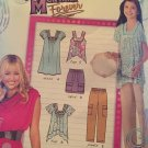 Simplicity 2244 Hannah Montana Sz 7-16 Girls dress top skirt pants Sewing Pattern