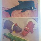 Simplicity 5778 Set of Stuffed Toys Pattern Dolphin Alligator Mr Mrs Hippo Sewing Pattern