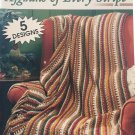 Leisure Arts 75035 Afghans of Every Stripe 5 designs Crochet Pattern
