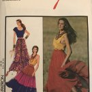 Style 1693 Misses Tiered Gypsy Skirts Sewing Pattern size 8 - 18