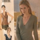 Vogue Easy Options Sewing Pattern 9796 Pullover V Neck Top Size 14 16 18