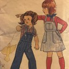 Butterick 5219 Girls/Childs Overall/Jumper Sewing Pattern Size 4