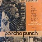Bernat Poncho Punch Booklet 171 Six Pretty Ponchos Knit & Crochet Patterns