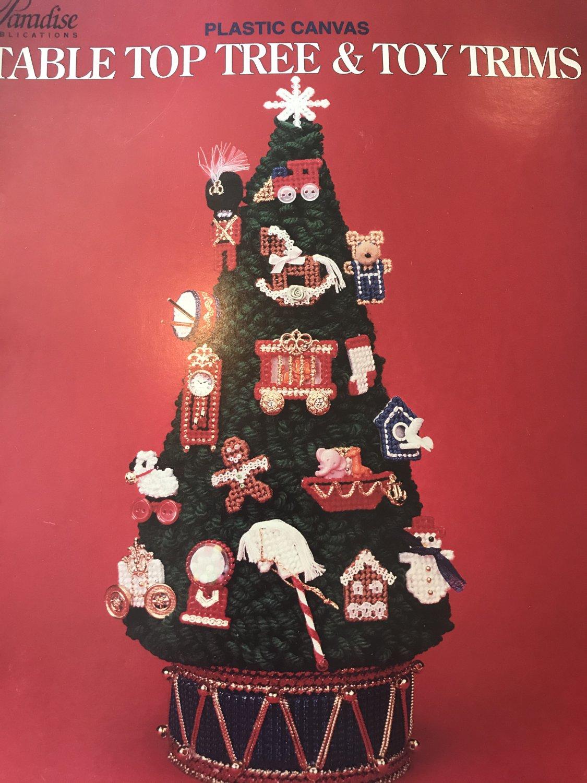 Plastic Canvas Pattern Table Top Tree & Toy Trims Paradise Publications