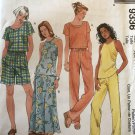 McCalls 9336 Summer Halter Top Shorts pants skirt Sewing Pattern Size 4 6 8