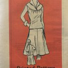 Vintage Mail Order Misses top and Skirt Sewing Pattern 9277 Size 10