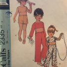 McCall's 2335  Child's Sports Separates Crop Top, Shorts Pants Vintage Sewing Pattern Size 6
