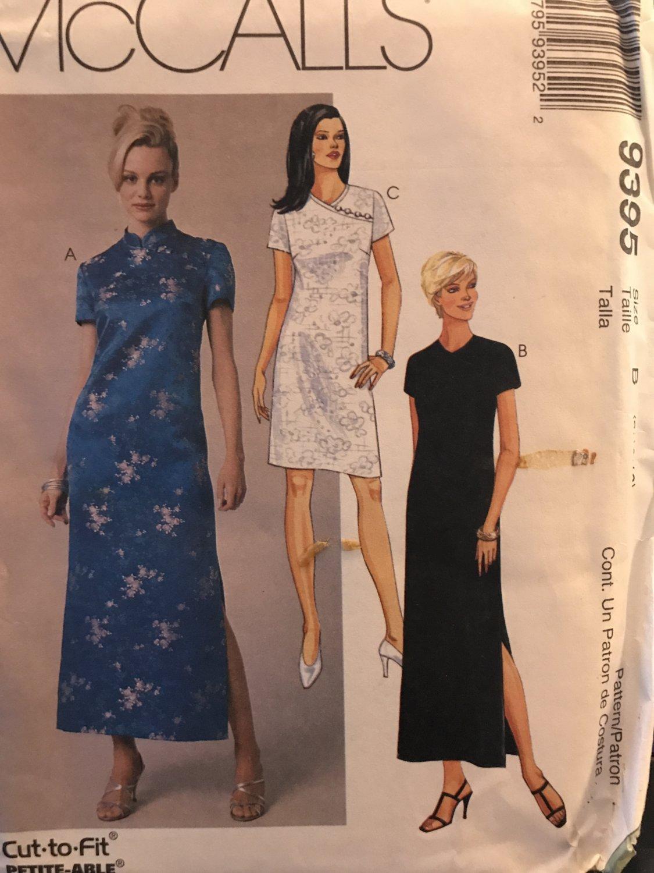 McCalls 9395 Oriental Style Dress Sewing Pattern Size 8 10 12