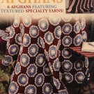 Leisure Arts 3705 Americana Afghans 6 designs Crochet Pattern featuring textured specialty yarns