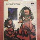 "World Friends Spanish Flamenco Dress outfits 14"" mother 8"" Child Crochet Pattern Fibre Craft FCM179"