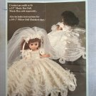 "Fibre Craft Musical Bride Crochet Pattern for 13"" Music Box Doll and 10 1/2"" Pillow doll FCM232"