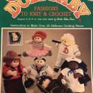 "Fibre Craft Doll Baby Fashions to Knit & Crochet Pattern FCM112 Fits 14"" Little Doll Baby"