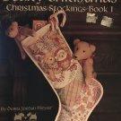Cross Stitch Stocking Pattern, Beary Christmas, Leisure Arts 747, Book 1, teddy bears