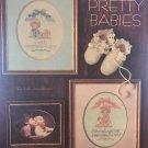 Alma Lynne Pretty Babies boy and girl Birth Announcement Cross Stitch chart pattern alx-21