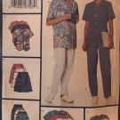 Butterick 5560 Medical Scrubs dress tops, skort, pants sewing pattern sizes XL - XXL