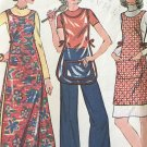 McCalls 3845 Sandwich Board Apron Pattern Womens Vintage Sewing Pattern cut/complete