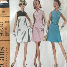McCalls 9230  Womens Dress in two versions Vintage Sewing Pattern Size 16 bust 38
