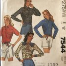 McCall's 7544 Misses' Western Style Shirts Front Button or Snap Sewing Pattern Size 22 Bust 44