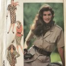 Simplicity 9543 Misses' Pull-On Skirt tank Top Dress Safari Style jacket  Sewing Pattern Size 18-22