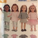 18 Inch Doll Clothes Simplicity W0262 0262 UNCUT Sewing Pattern Tops leggings tutu skirt