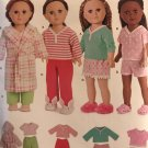 18 Inch Doll Clothes Simplicity W0264 0264 UNCUT Sewing Pattern Robe Pants Shorts  Tops