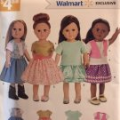 18 Inch Doll Clothes Simplicity W0263 0263 UNCUT Sewing Pattern Skirts Tops