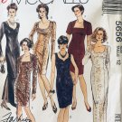 McCalls 5656 Misses Evening Dresses Fitted Sheath Size 12 Sewing Pattern