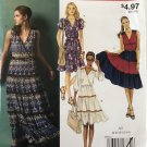 McCalls M9042 9042  Misses Summer Dress size 6 to 14 sleeve and hem variations