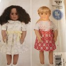 """McCall's Easy Stitch 'n Save Pattern M9312 9312 18"""" doll Dress, top and jumper"""
