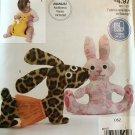 McCall's Easy Stitch 'n Save Pattern M9327 9327 Stuffed Toys Dog Bunny Cat Bear