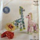 McCall's Easy Stitch 'n Save Pattern M9336 9336 Lion Zebra Giraffe Toys