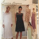 McCalls 9145 Sewing Pattern Mother of the Bride Bridesmaid Evening Elegance Size 8 10 12 UNCUT