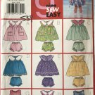 Butterick 5495 Sew Easy Toddler Dress, Panties and Jumpsuit size 1 -4 sewing pattern