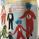 McCall's P568 7675 Dr. Seuss Costumes Adult size Small Medium Large  XLG Sewing Pattern