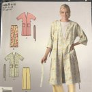 Simplicity 2727 Easy Misses Robe and Pull on Elastic Pants Sewing Pattern Size 8, 10, 12, 14, 16, 18