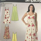 Simplicity 2034 Easy Misses Summer Dress Sewing Pattern Size 8, 10, 12, 14, 16, 18