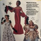 McCall's 7345 P213 Childs' Costume Pattern Southern Belle Bride Fairy Singer Movie Star Size 7, 8